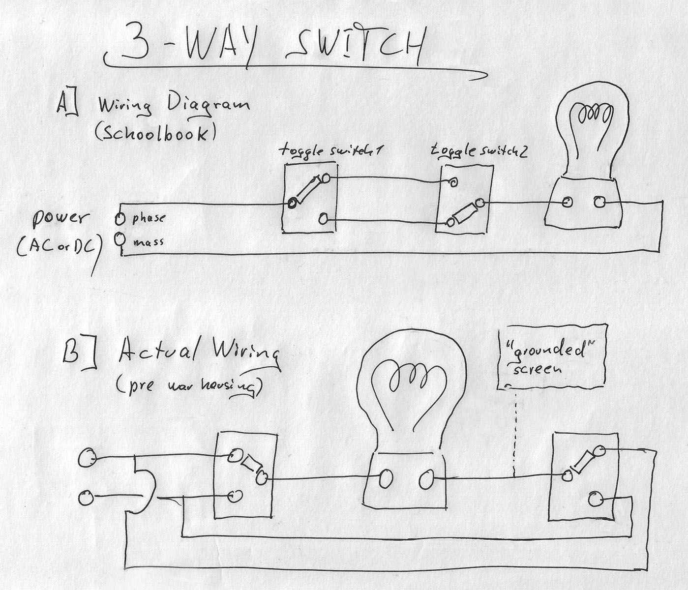 3 Way Switch Wiring Diagram Multiple Lights - Lorestan - 3-Way Switch Wiring Diagram