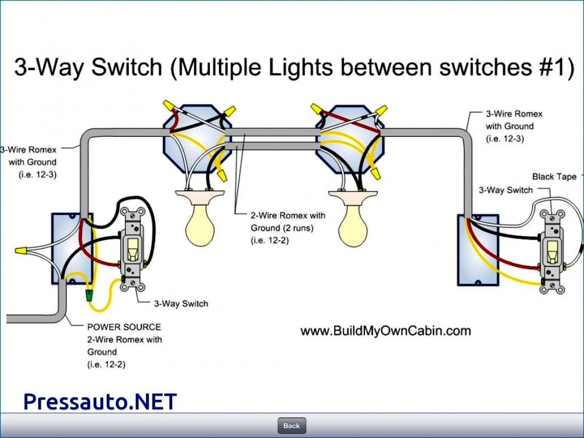 3 Way Switch Wiring Diagram With 2 Lights | Wiring Diagram - 3 Way Switch Wiring Diagram Power At Light