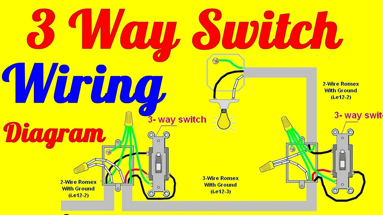 3 Way Switch Wiring Diagrams How To Install - Youtube - 3Way Switch Wiring Diagram