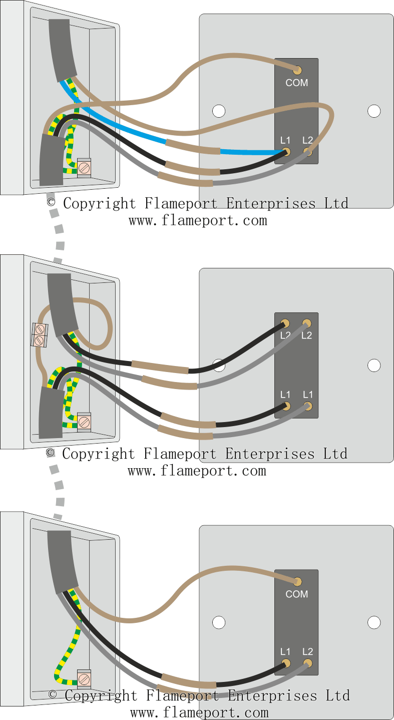3 Way Switched Lighting Circuits - 3 Way Switching Wiring Diagram