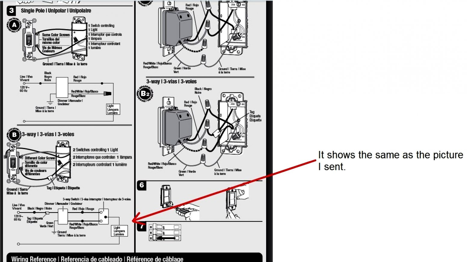 3 Way Wiring Diagram Lutron | Manual E-Books - Lutron 3 Way Dimmer Wiring Diagram