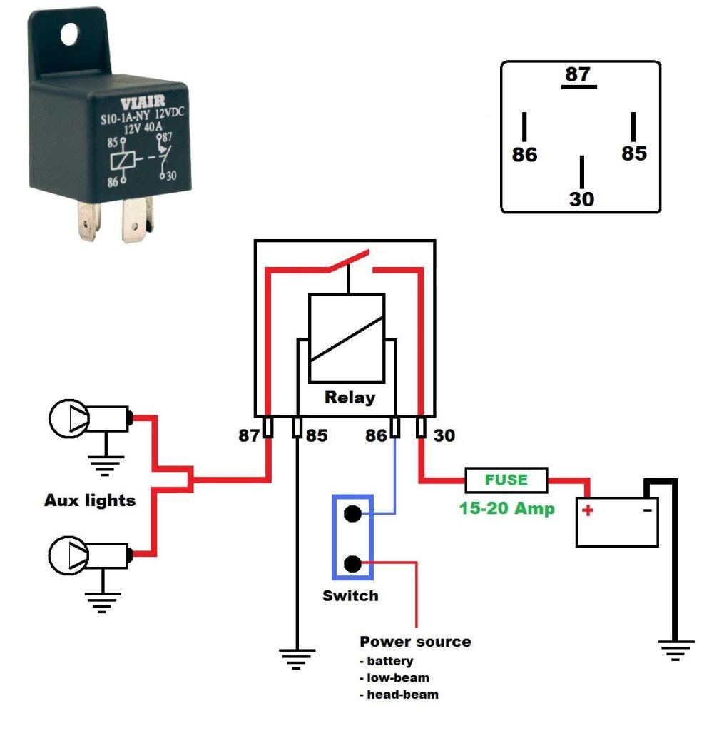 30 40 Amp Relay Wiring Diagram | Manual E-Books - Relay Wiring Diagram