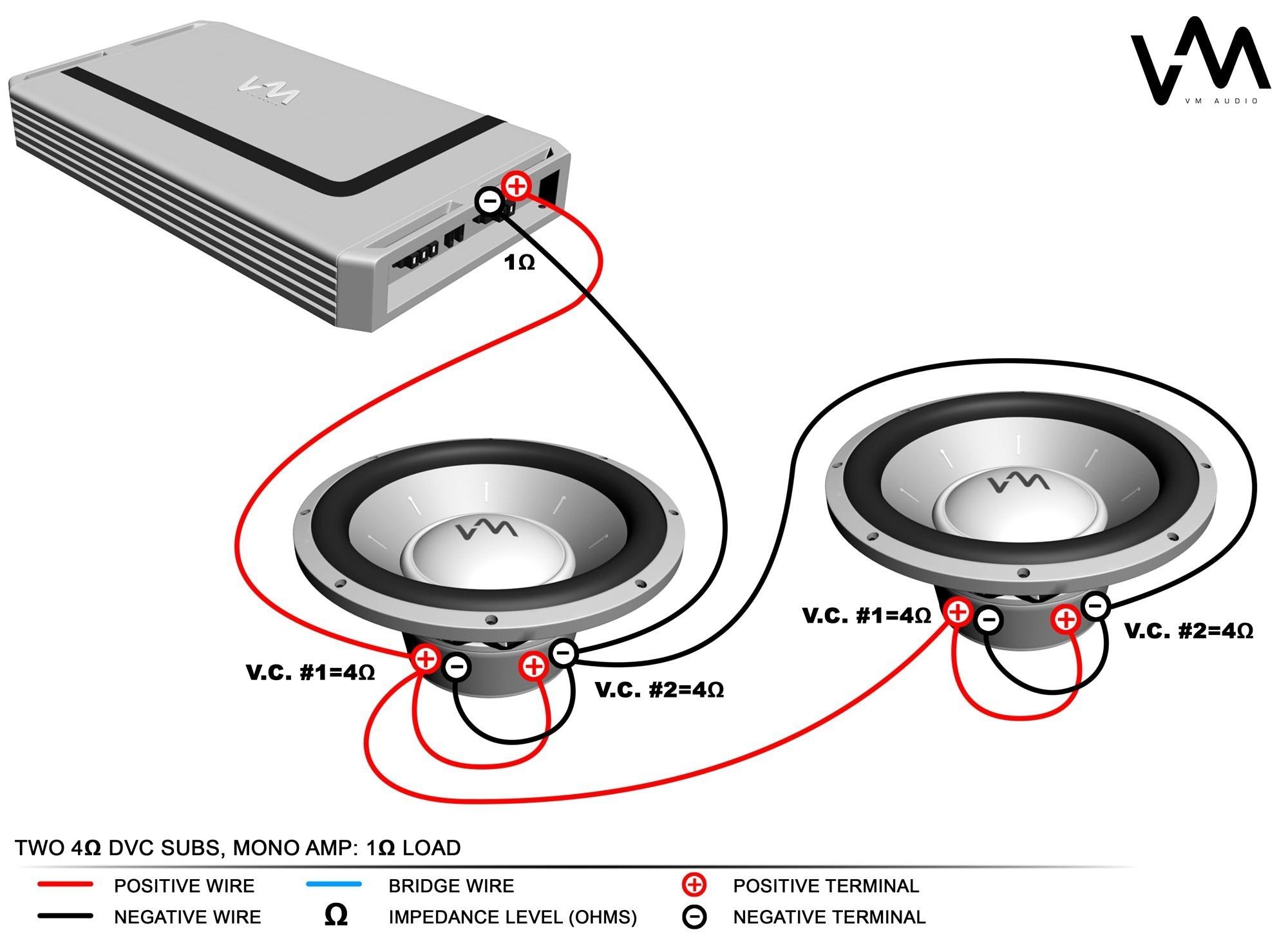 4 ohm dual voice coil wiring diagram inspirational kicker bridge – kicker  wiring diagram