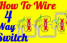 4 Way Light Switch Wiring Diagram (How To Install)   Youtube   4 Way Switch Wiring Diagram