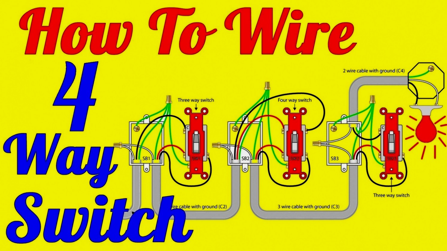 Way Wiring Diagram Multiple Lights on 7 way light wiring diagram, 4 way light wiring scheme, 2 way light wiring diagram, 6 way light wiring diagram, 4 way electrical diagram, 4 way lighting diagram, 3 way light wiring diagram, 4 way light switch diagram,