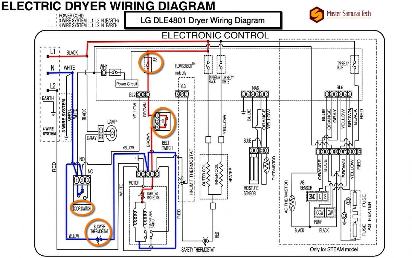 4 Wire Dryer Schematic Wiring Diagram | Wiring Diagram - Dryer Plug Wiring Diagram