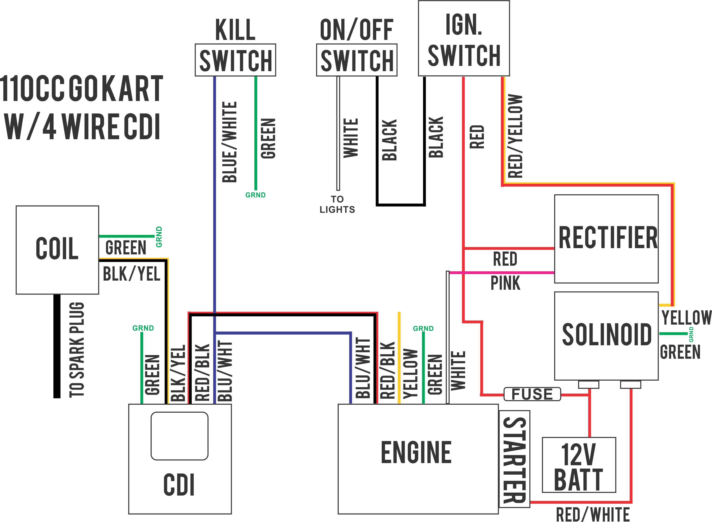 4 Wire Ignition Wiring - Wiring Diagram Data - Motorcycle Ignition Switch Wiring Diagram