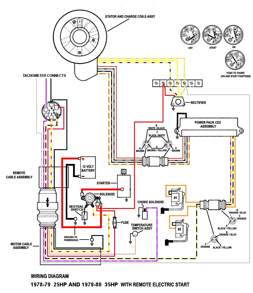 40 Hp Johnson Outboard Wiring Diagram Hecho | Manual E-Books - Mercury Outboard Rectifier Wiring Diagram