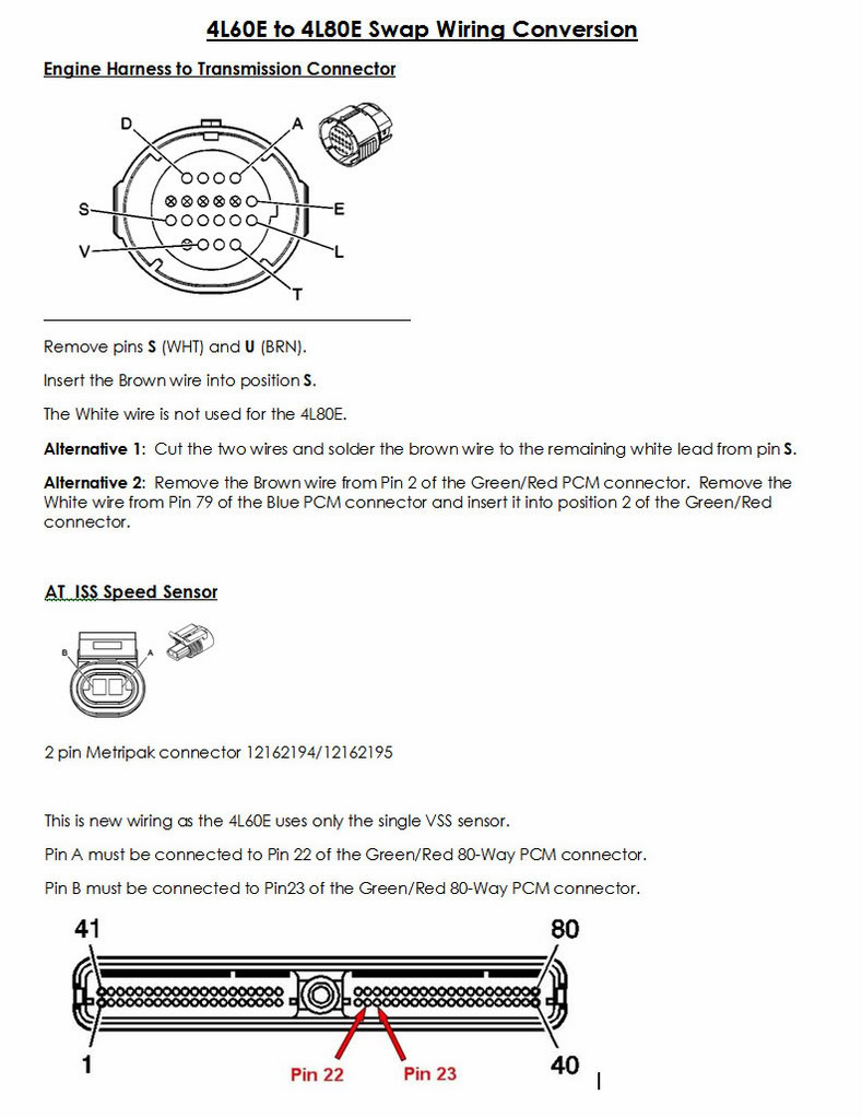 4L60E Transmission Plug Wiring Diagram - Schema Wiring Diagram - 4L80E Transmission Wiring Diagram