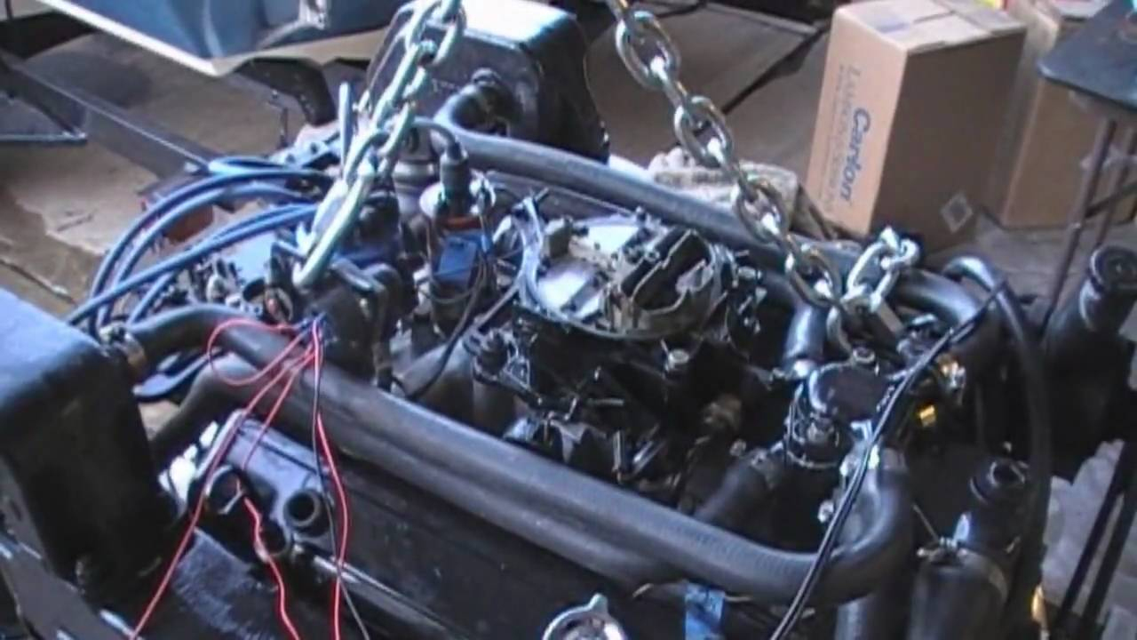5.7 Mercruiser Chevy 350 Engine Running For The First Time - Youtube - 5.7 Vortec Engine Wiring Diagram