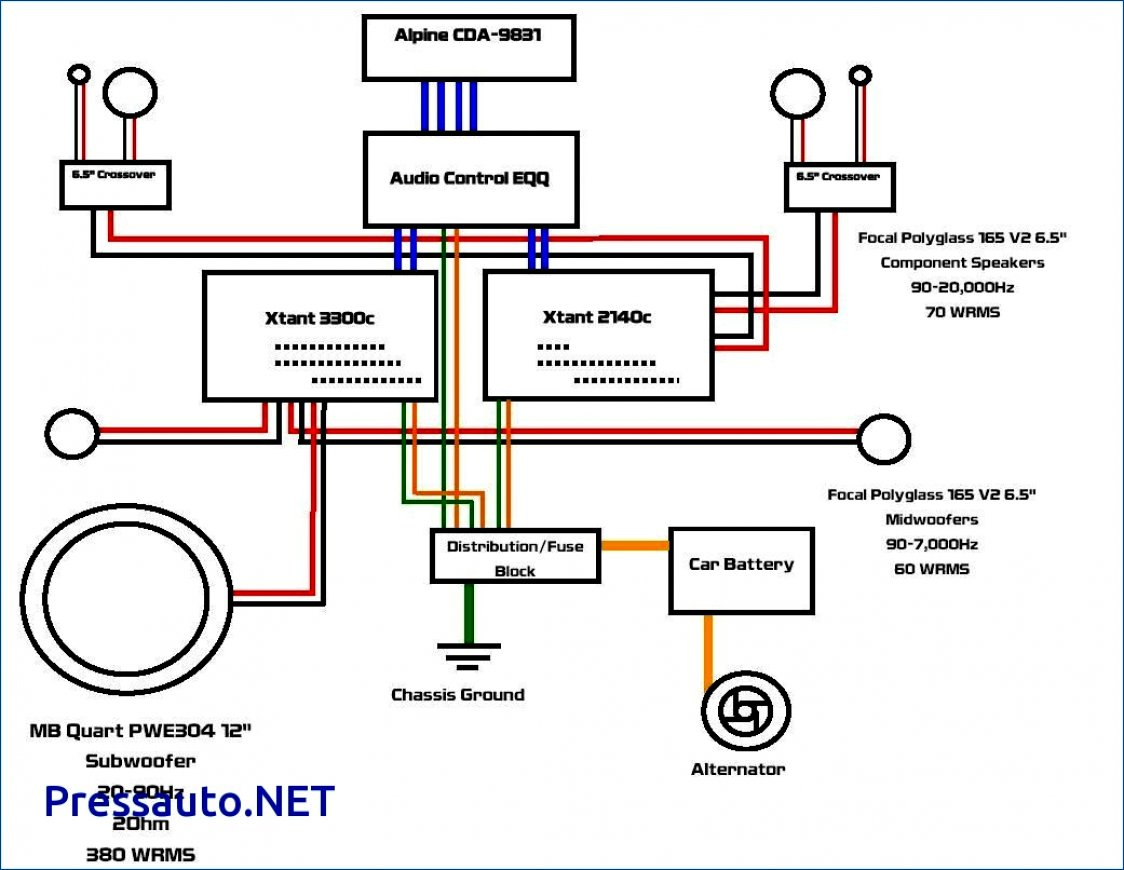 5 Channel Wiring Diagram - Wiring Diagram Detailed - 2 Channel Amp Wiring Diagram