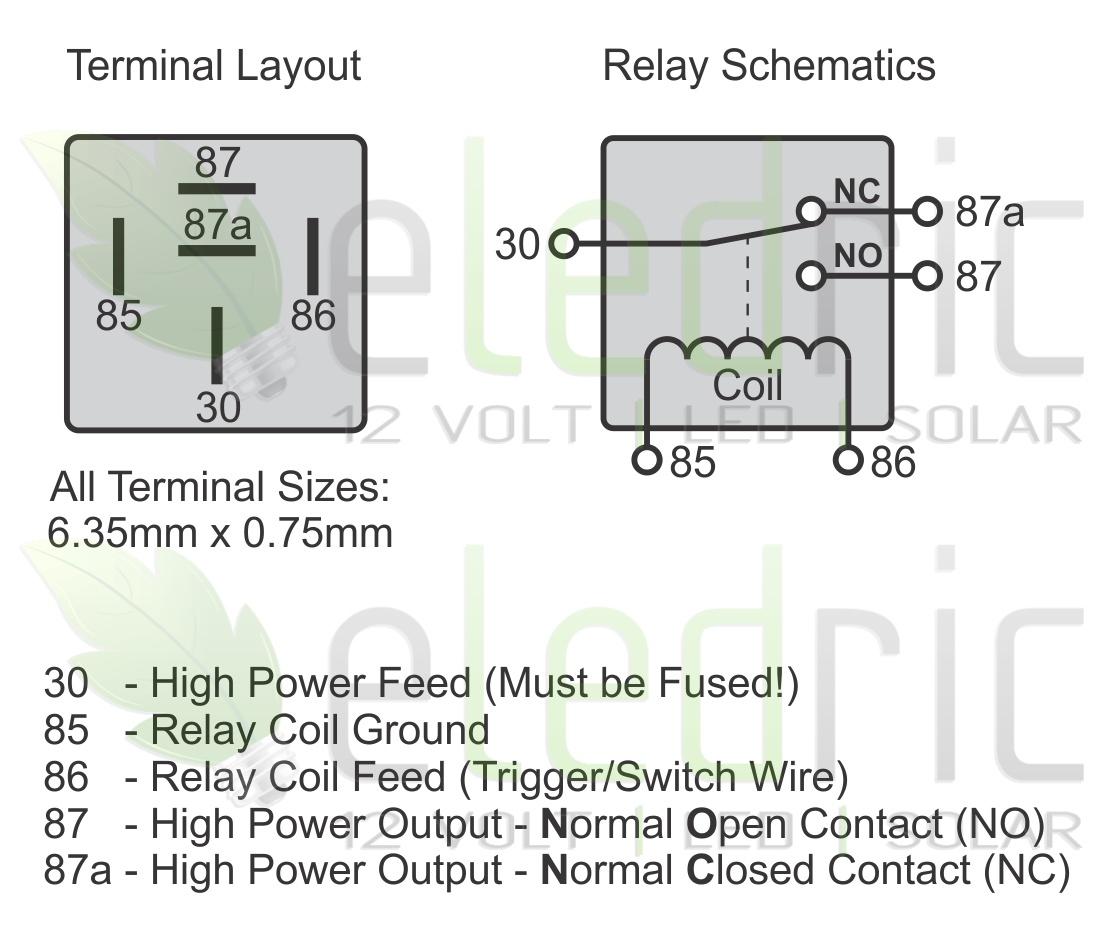 5 Wire Relay Schematic | Wiring Diagram - Automotive Relay Wiring Diagram