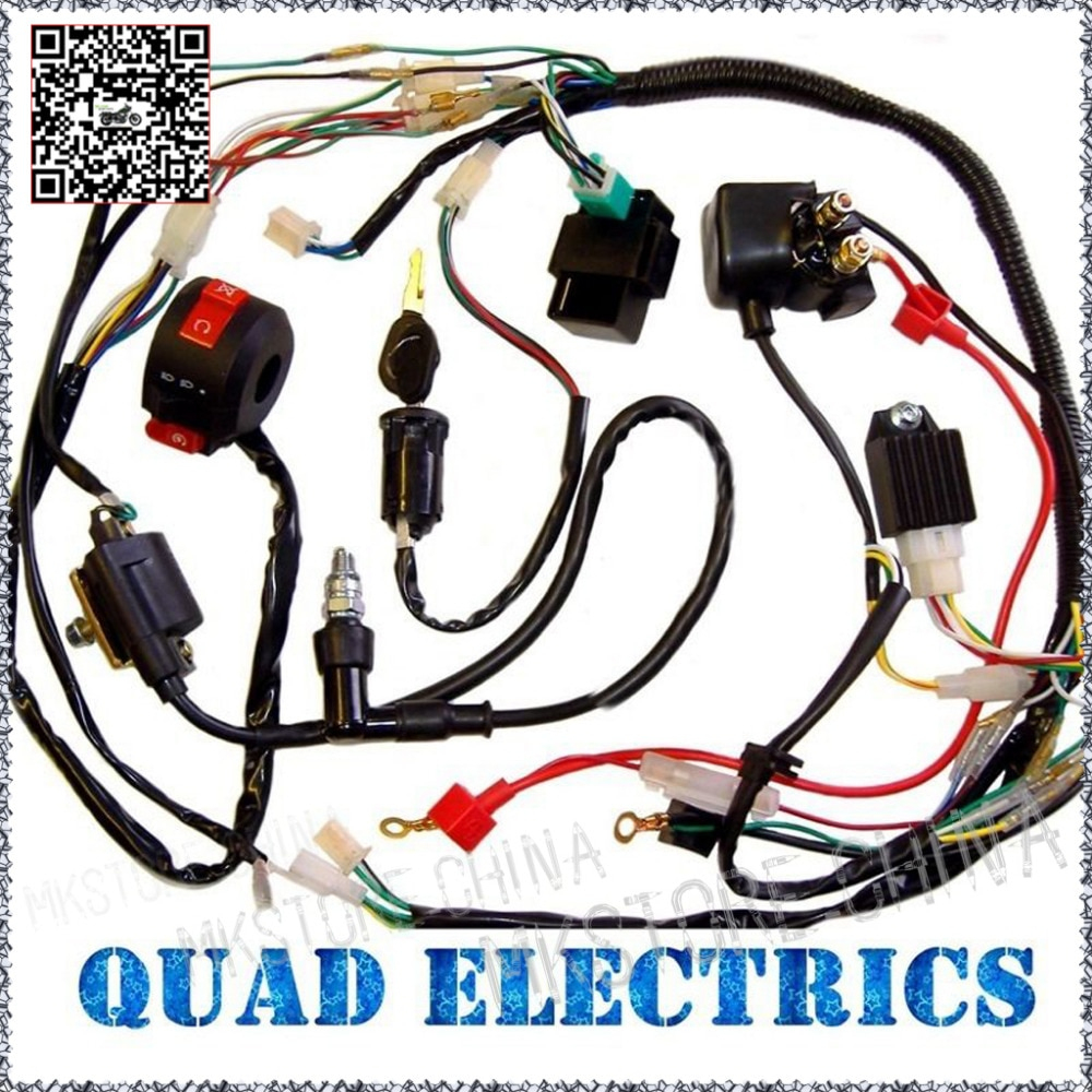 50Cc 70Cc 110Cc 125Cc Atv Quad Electric Full Set Parts+Wire+Cdi+ - Chinese 110Cc Atv Wiring Diagram