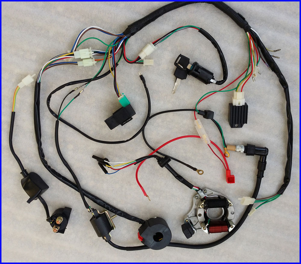 Astounding 50Cc 70Cc 90Cc 110Cc Wire Harness Wiring Cdi Electric Atv Quad Wiring Cloud Hisonuggs Outletorg