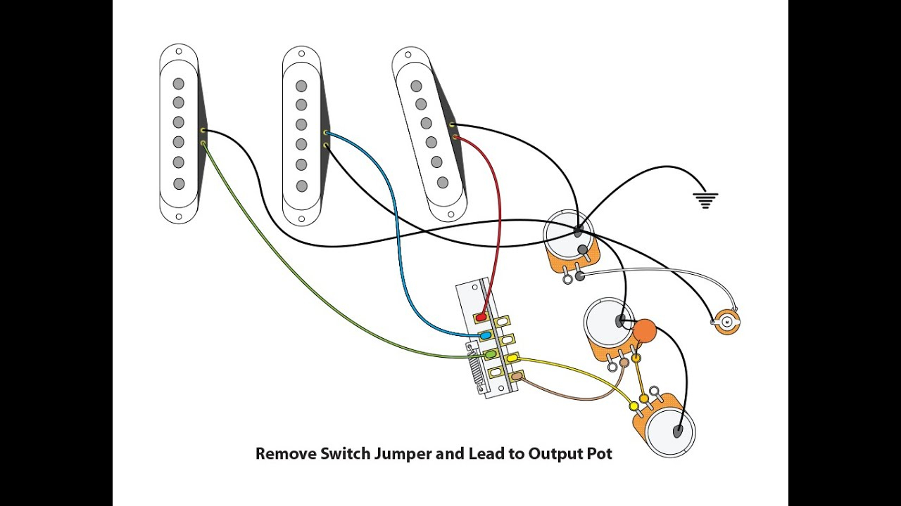 50's Or Vintage Style Wiring For A Stratocaster - Youtube - Strat Wiring Diagram
