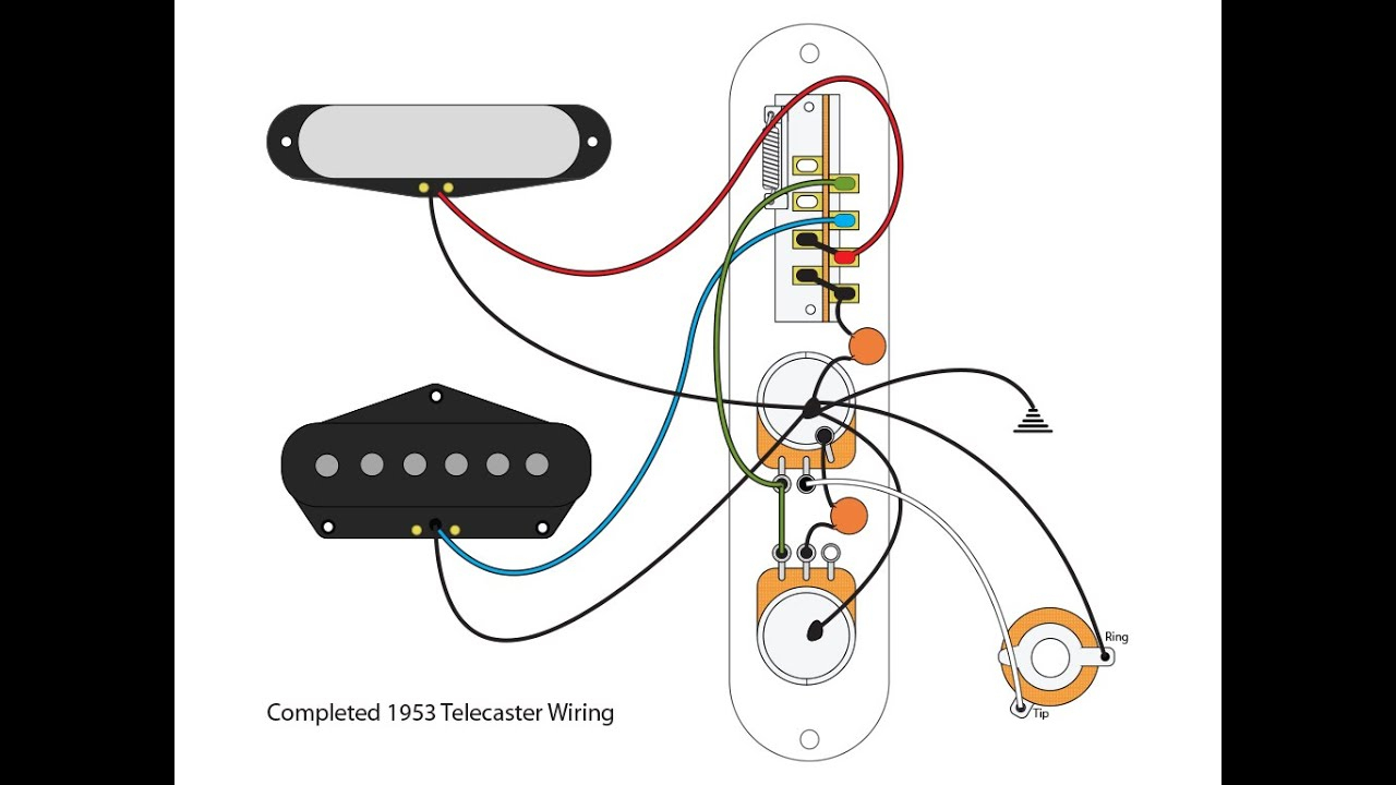 "53 ""blackguard"" Tele Wiring Scheme - Youtube - Telecaster Wiring Diagram"