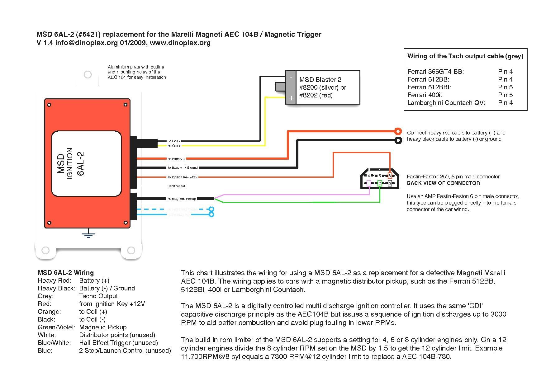 6421 Msd 6Al 2 Wiring Diagram | Manual E-Books - Msd 6A Wiring Diagram