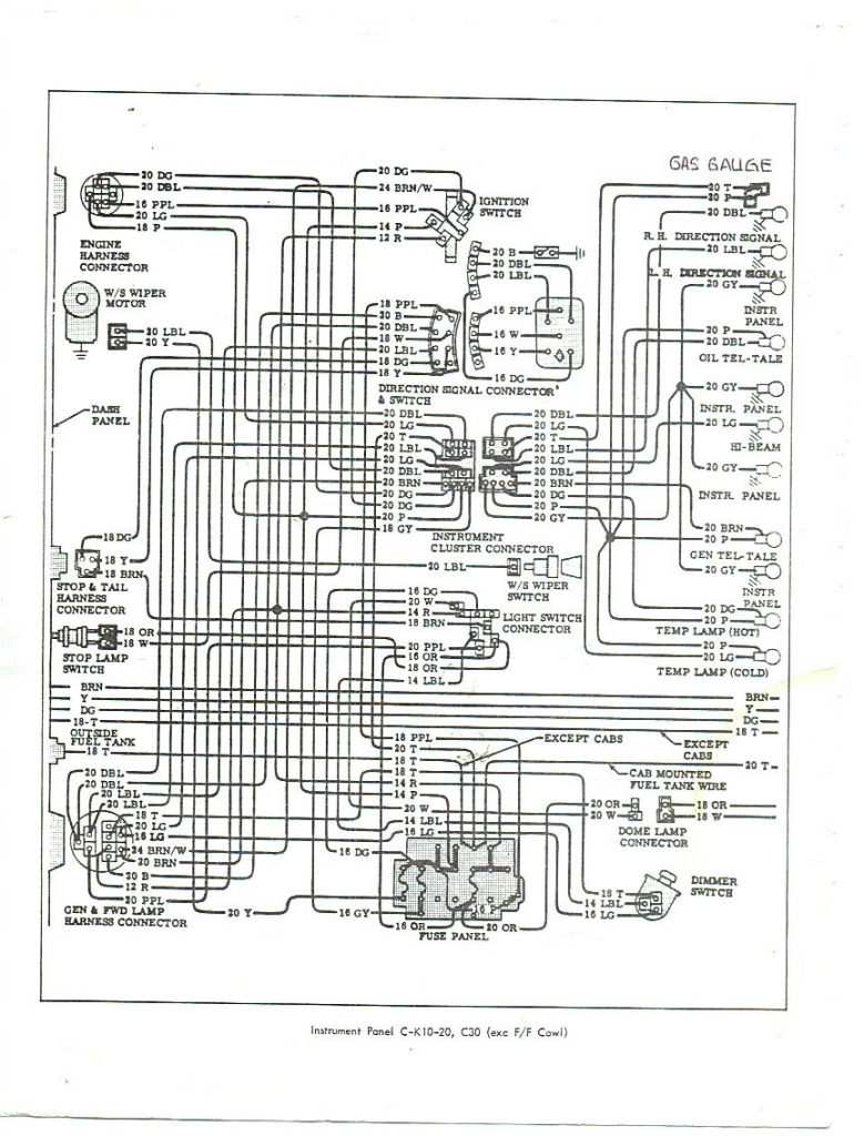 66 Chevy Truck Fuse Box   Wiring Diagram Detailed   1972 Chevy Truck Wiring Diagram