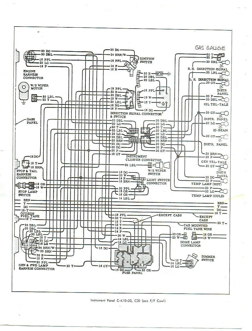 66 Chevy Truck Fuse Box - Wiring Diagram Detailed - 1972 Chevy Truck Wiring Diagram