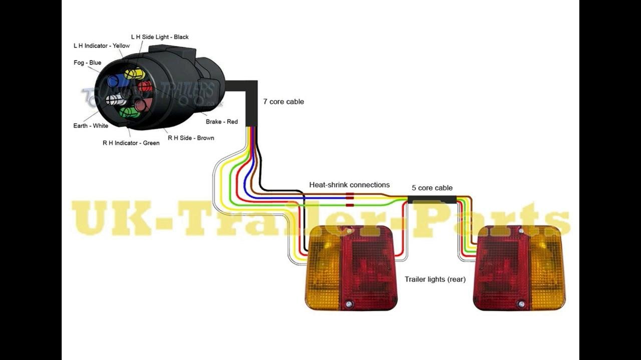 7 Pin 'n' Type Trailer Plug Wiring Diagram - Youtube - 5 Wire Trailer Wiring Diagram