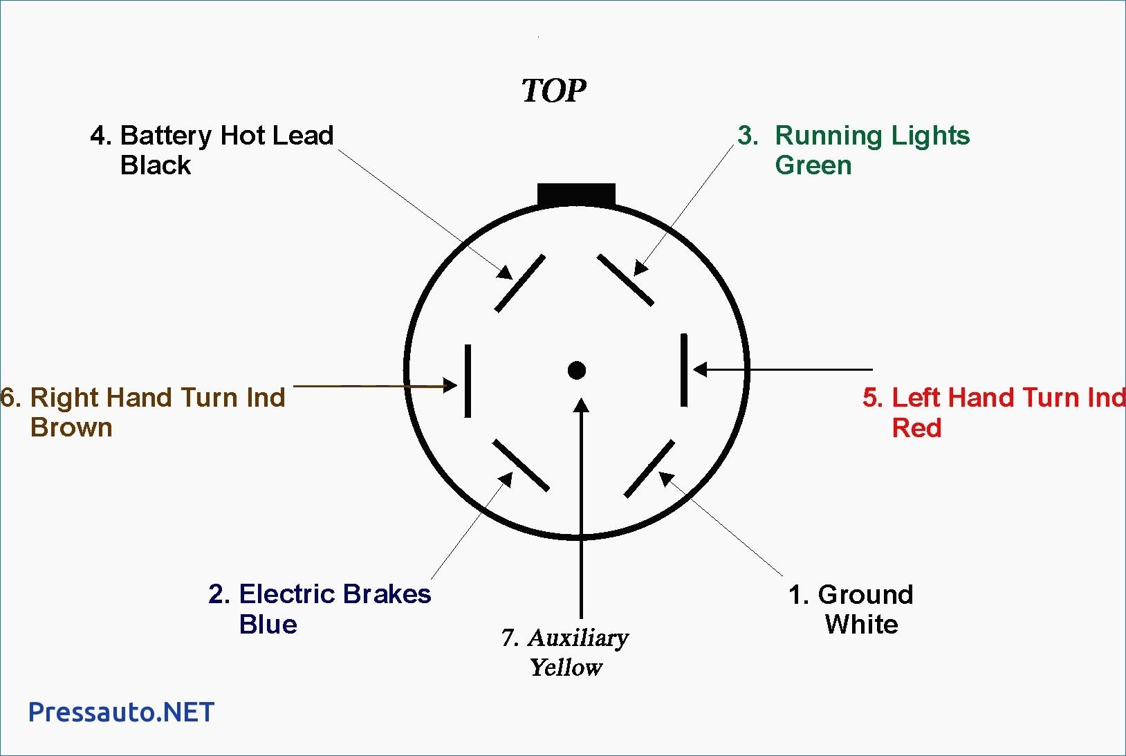 7 Pin Plug Wiring Diagram - Wiring Diagram Data - 7 Pin Round Trailer Plug Wiring Diagram