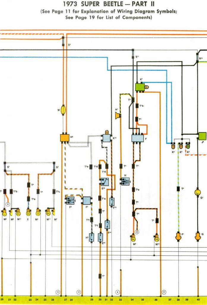 73 Vw Wiring Diagram   Data Wiring Diagram Schematic   1973 Vw Beetle Wiring Diagram