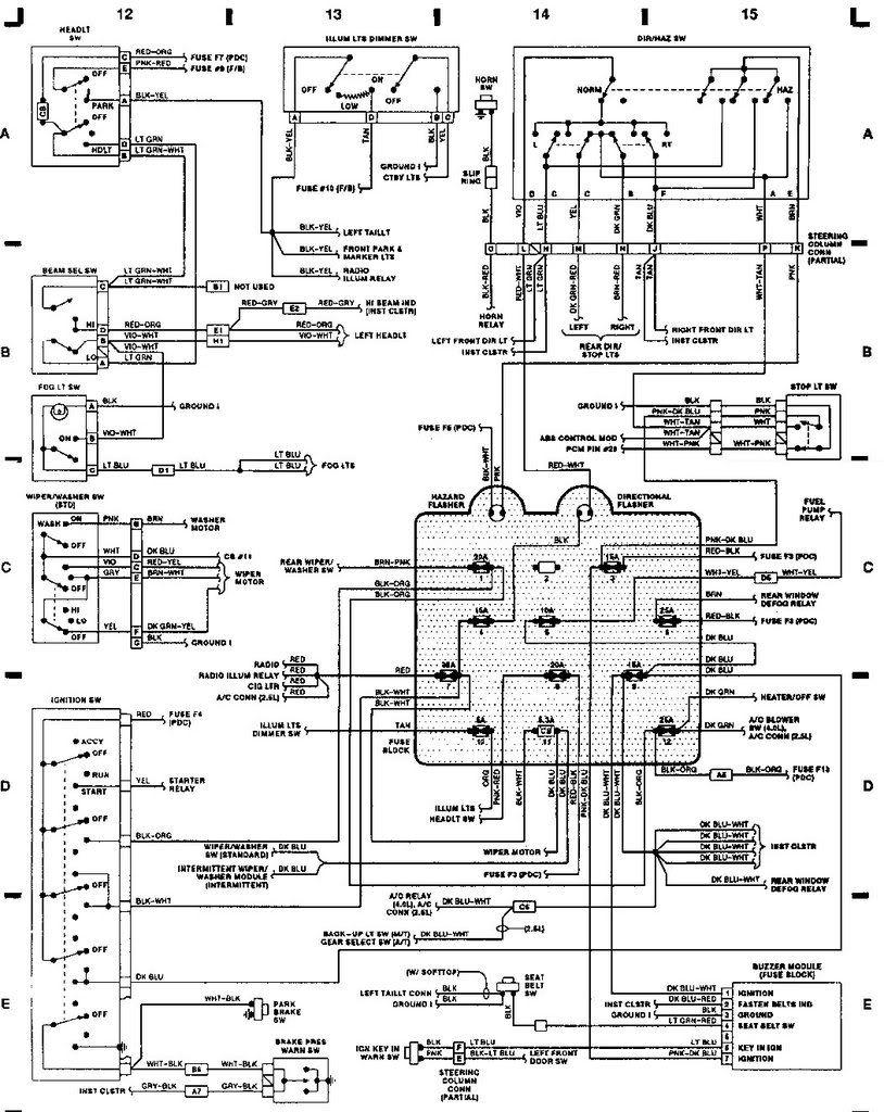 89 Jeep Yj Wiring Diagram   Yj Wiring Help   Jeep Yj   Jeep, Jeep - Jeep Wrangler Wiring Diagram