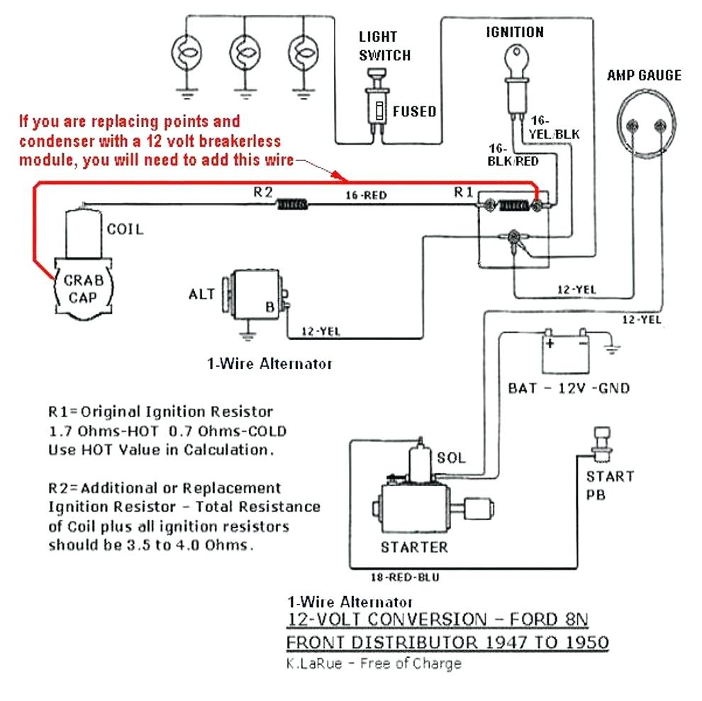 8N 12 Volt Conversion Wiring Diagram 1 Wire - Wiring Diagram Explained - 12 Volt Alternator Wiring Diagram