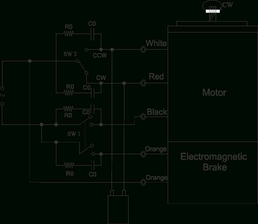 90 Watt Electromagnetic Brake Motor And Gear Motor | Swipfe - Wiring Diagram For 230V Single Phase Motor