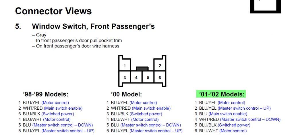 Wondrous 6 Pin Power Window Switch Wiring Diagram Wirings Diagram Wiring Database Gramgelartorg