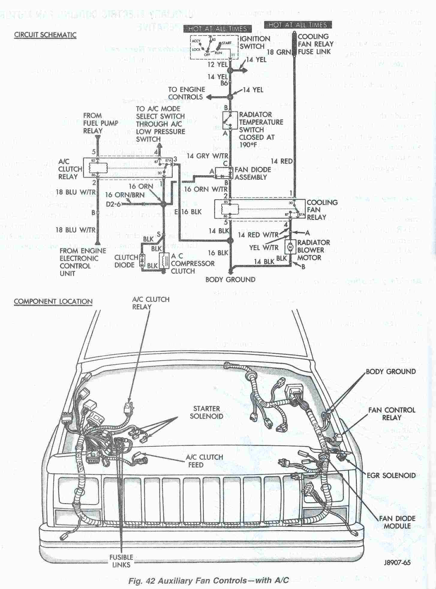 98 Grand Cherokee Cooling Fan Wiring Diagram - Wiring Diagram Explained - Cooling Fan Relay Wiring Diagram
