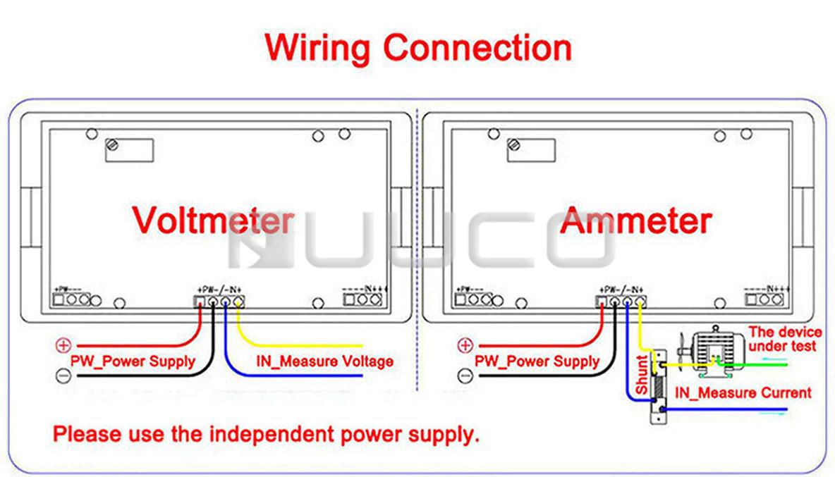 Ac Amp Meter Wiring Diagram | Manual E-Books - Digital Volt Amp Meter Wiring Diagram