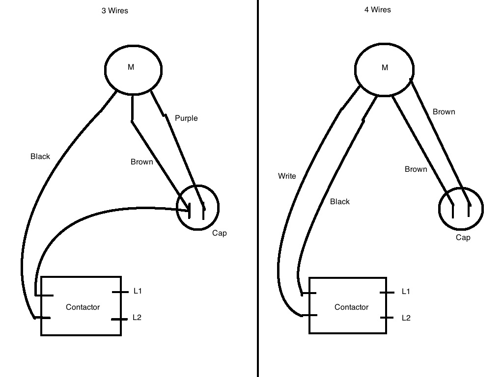 Ac Compressor Fan Motor Wiring - Hvac - Page 2 - Diy Chatroom Home - 3 Wire Condenser Fan Motor Wiring Diagram