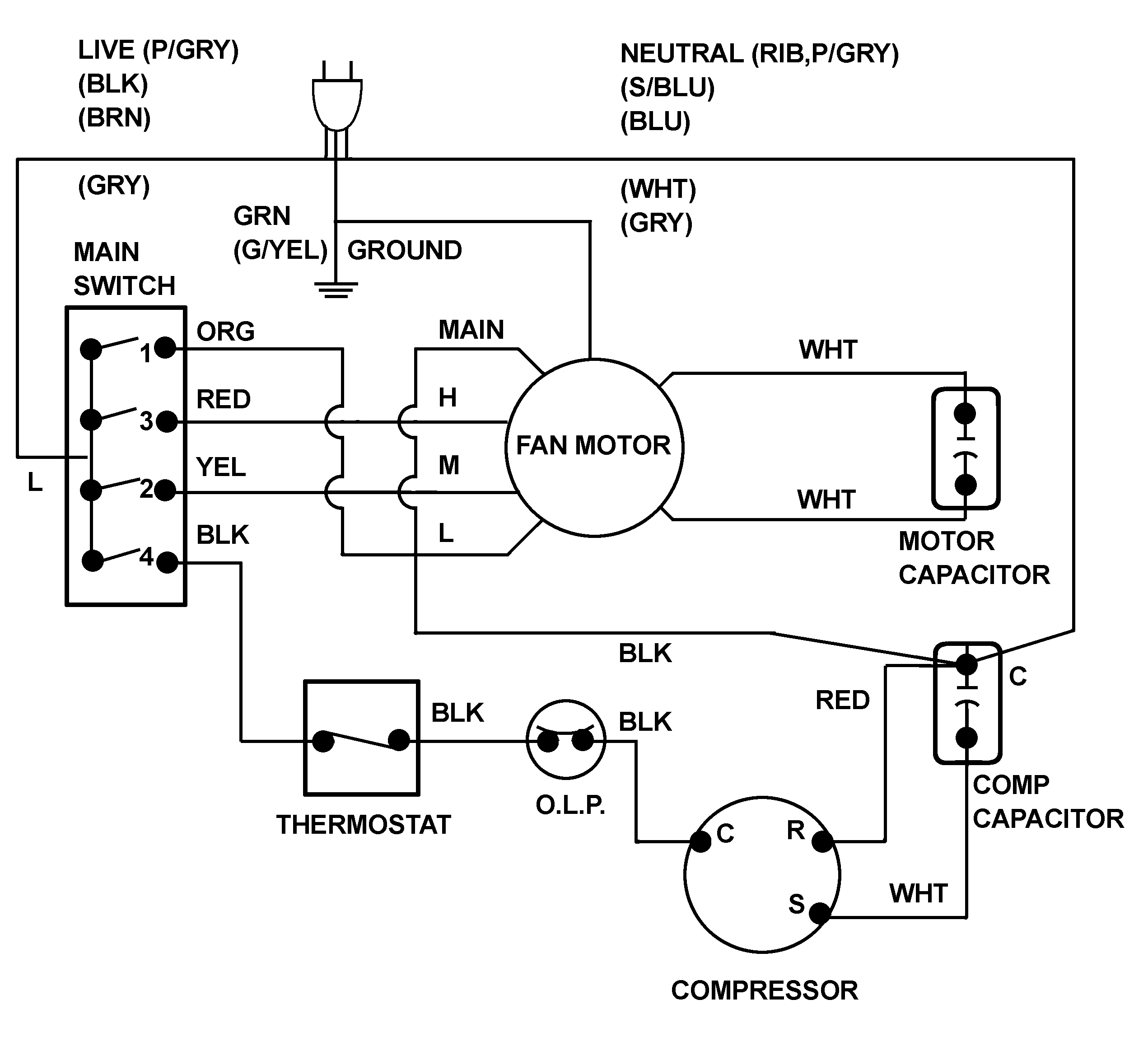 home ac schematic wiring wiring diagram ops GMC Home Air Conditioning Wiring