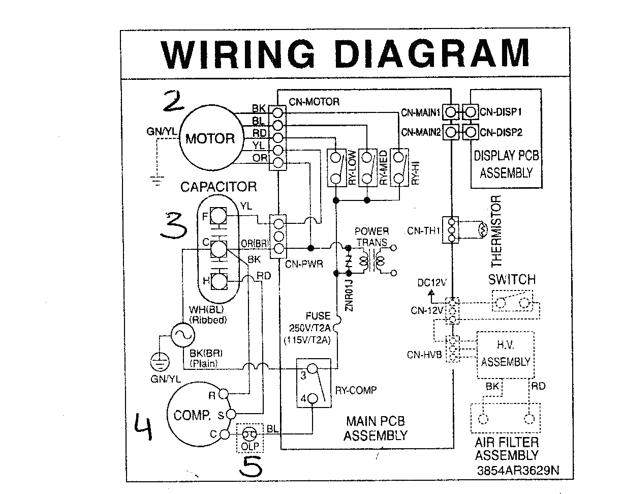 Ac Wire Diagram | Wiring Diagram - Ac Capacitor Wiring Diagram