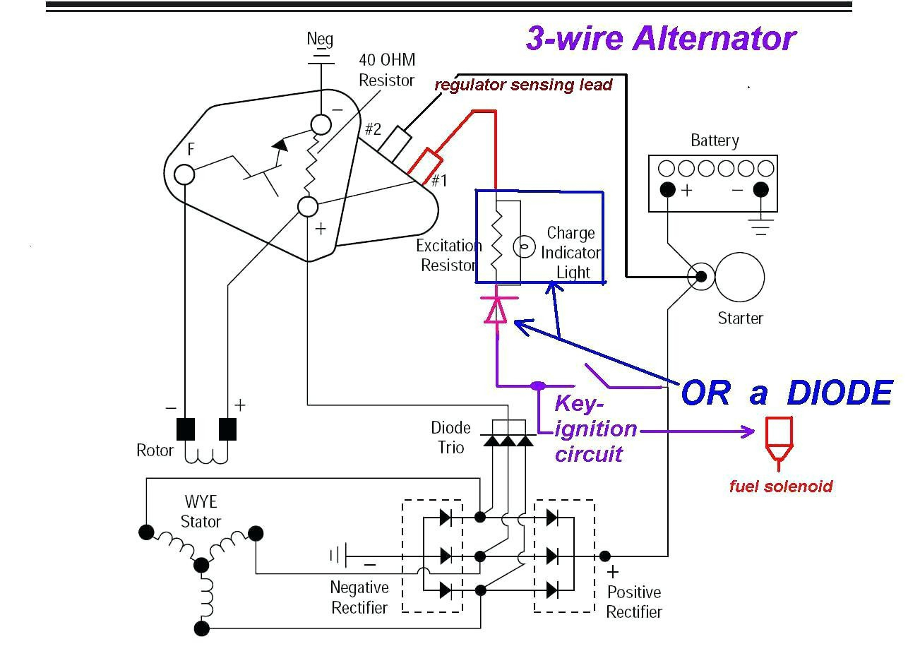 Acdelco 3 Wire Gm Alternator Wiring | Wiring Diagram - Delco Alternator Wiring Diagram