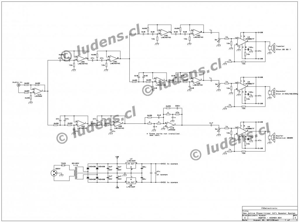 Speaker Crossover Wiring Diagram