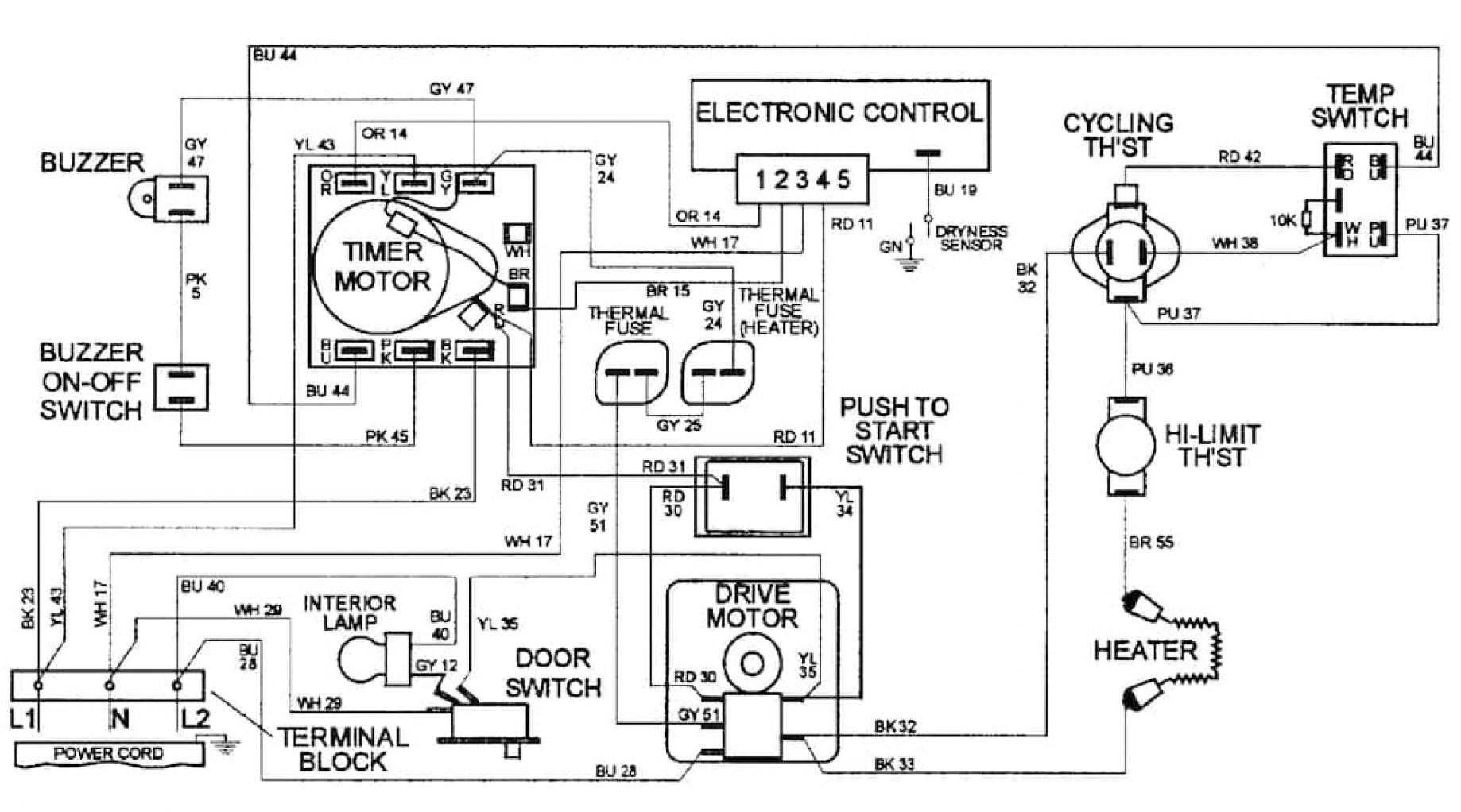 Admiral Electric Dryer Wiring Diagram | Wiring Diagram - Dryer Wiring Diagram