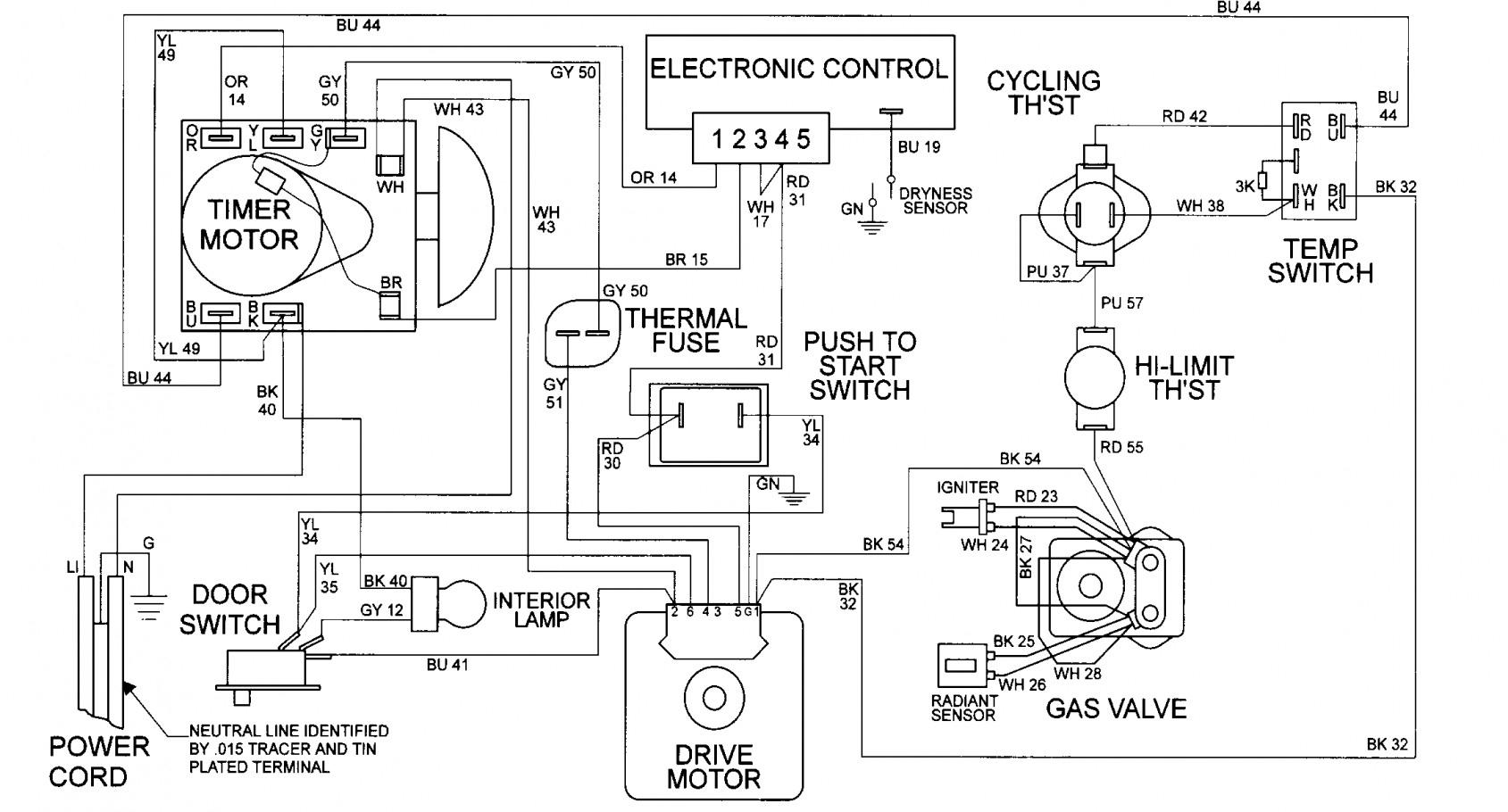 Admiral Electric Dryer Wiring Schematic | Wiring Diagram - Whirlpool Dryer Wiring Diagram