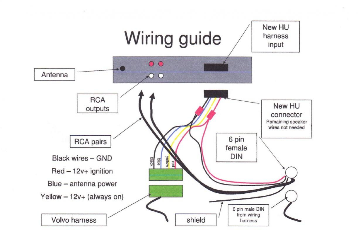 Aftermarket Radio To Factory Amp Wiring Help - Volvo Forums - Volvo - Car Amp Wiring Diagram