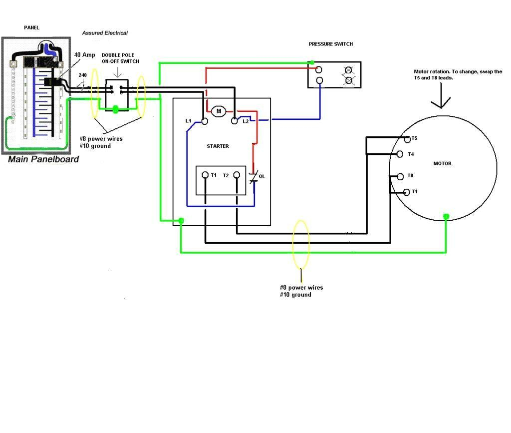 Air Compressor 220V Wiring Diagram | Wiring Library - Air Compressor Pressure Switch Wiring Diagram