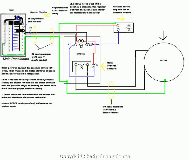Air Compressor Wiring Diagram 240V
