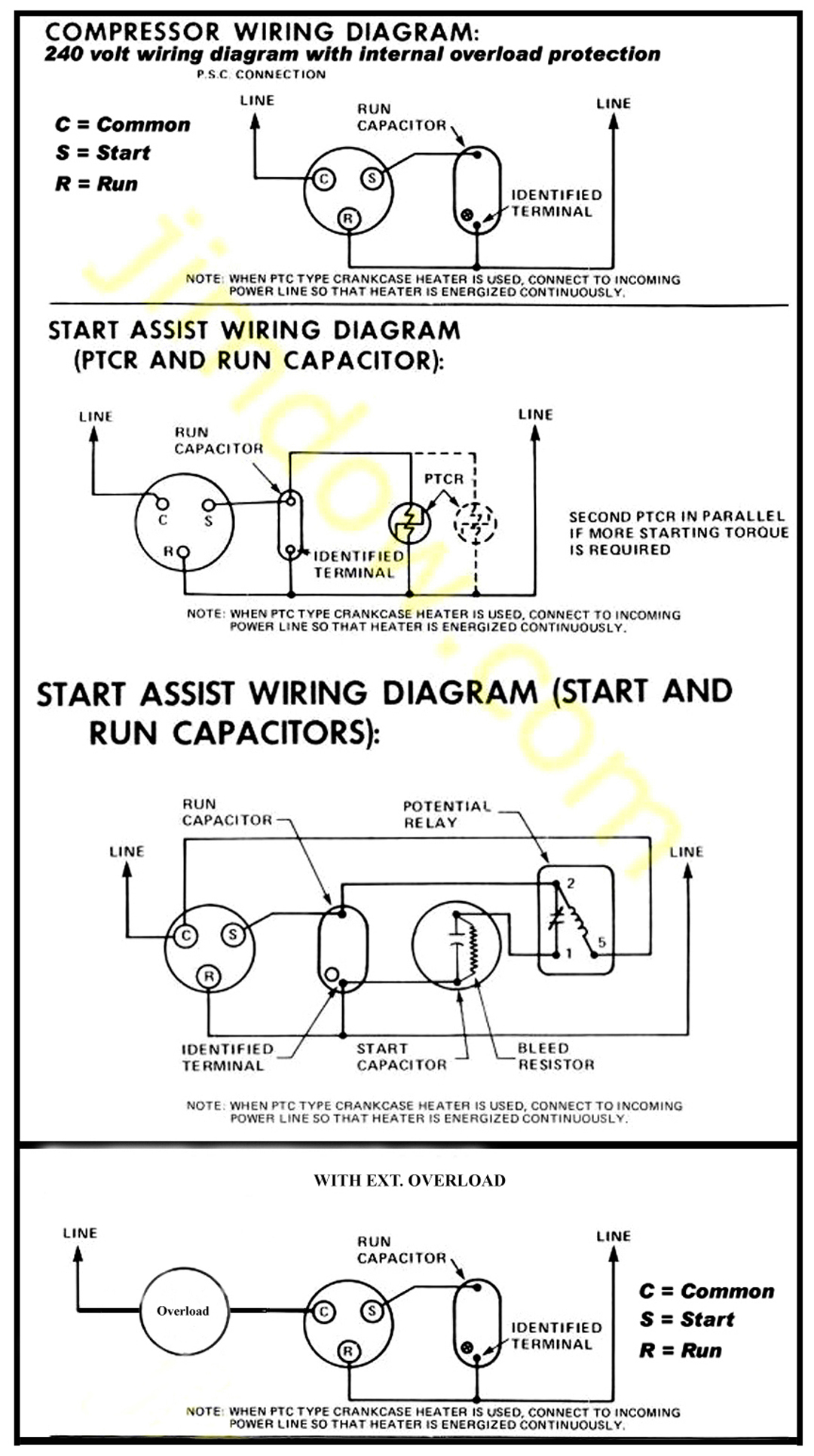 Air Conditioner Compressor Wiring : General Spud Cannon Related - Air Conditioner Wiring Diagram Capacitor