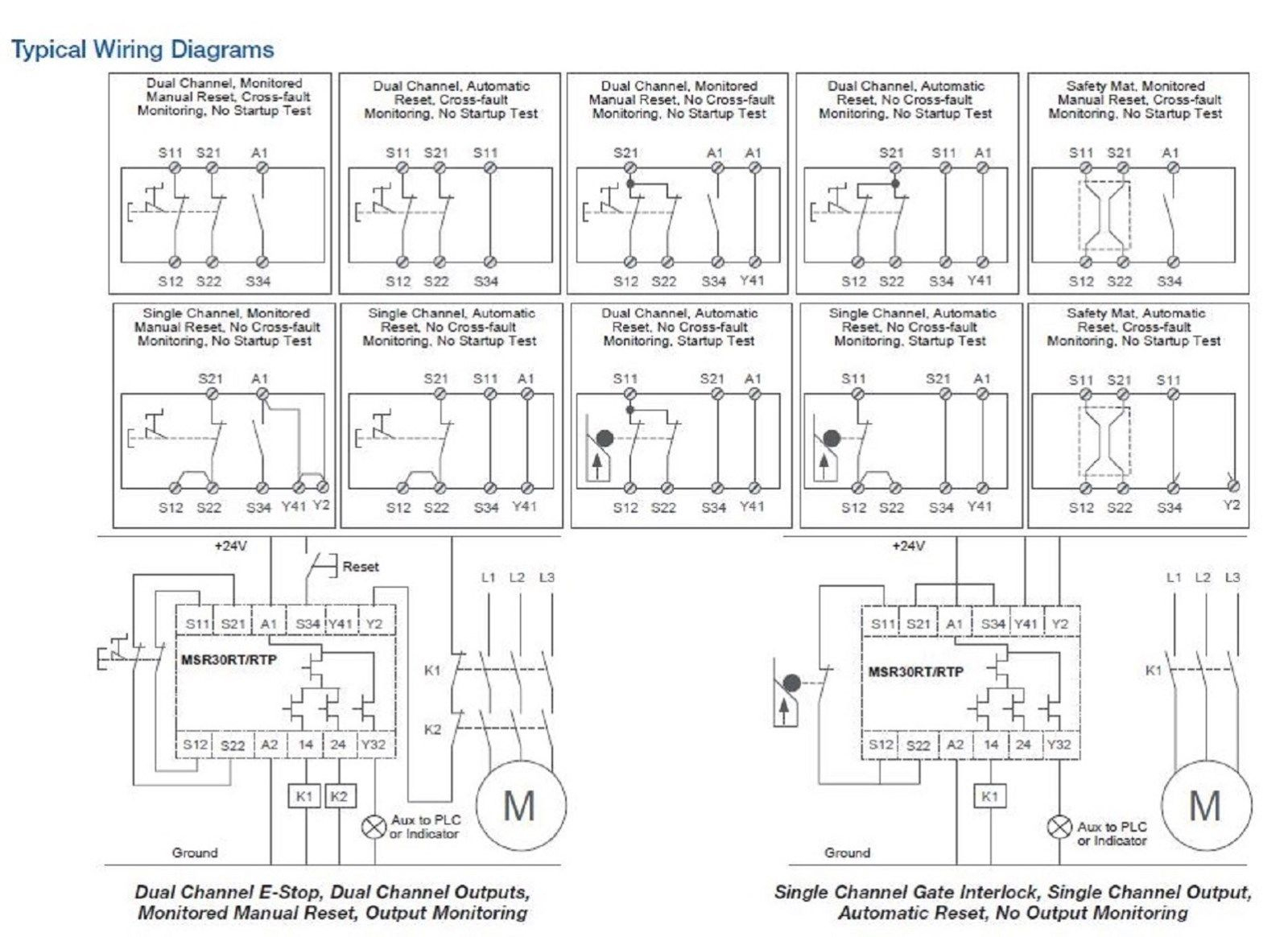 Allen Bradley 440R-N23198 Msr30Rtp Guardmaster Safety Relay Single - Allen Bradley Safety Relay Wiring Diagram