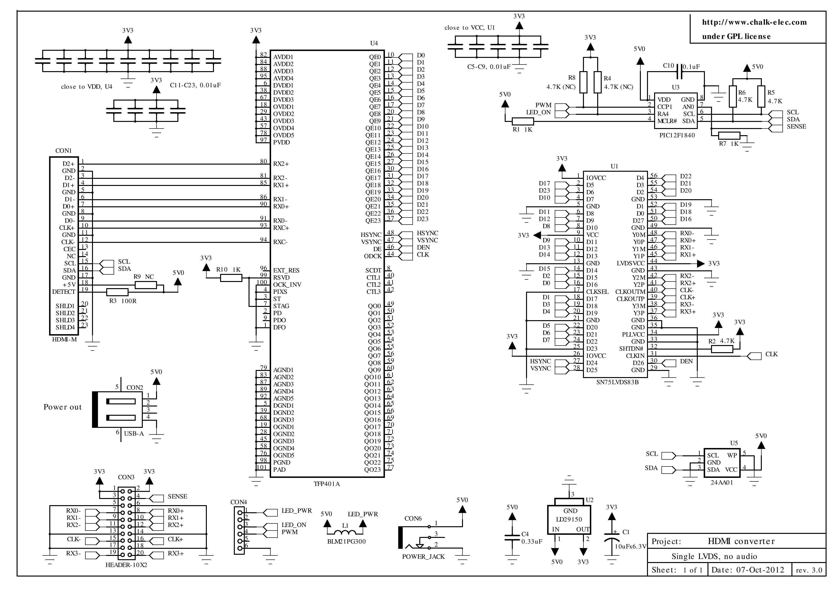 Analog - Hdmi To Lvds Converter - Electrical Engineering Stack Exchange - Micro Usb To Hdmi Wiring Diagram