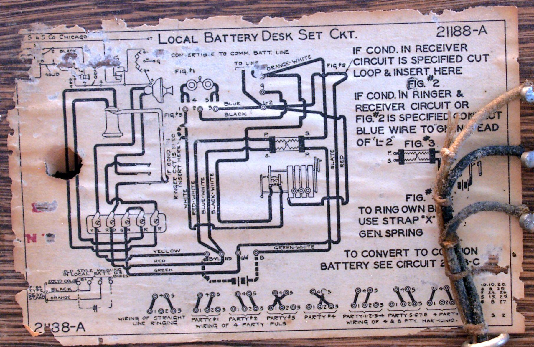 Antique Crank Phone Wiring Diagrams   Wiring Diagram - Old Telephone Wiring Diagram