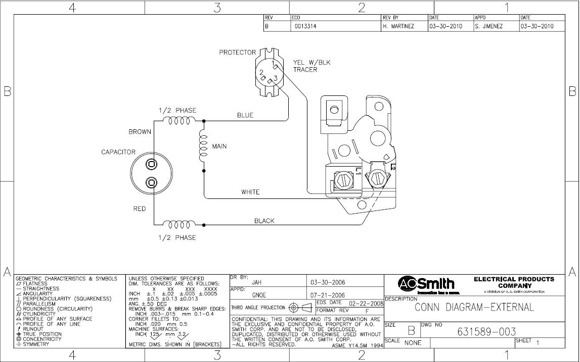 Ao Smith Motor Diagrams   Wiring Diagram - A.o.smith Motors Wiring Diagram