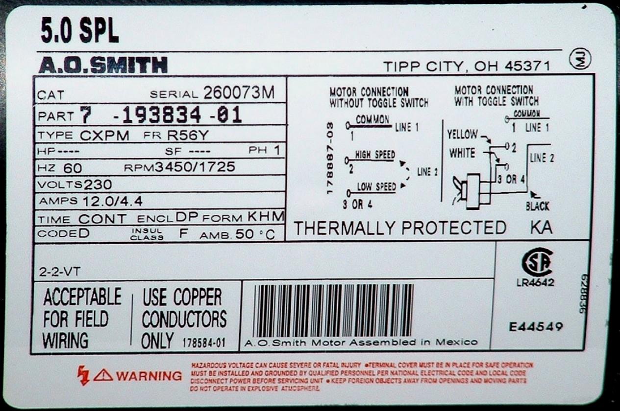 Ao Smith Motors Wiring Diagram | Wiring Diagram - Ao Smith Motor Wiring Diagram