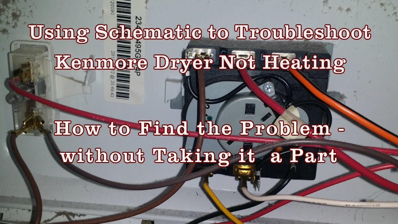 Appliance Repair - How To Read Schematics Diagram Kenmore/whirlpool - Kenmore Dryer Wiring Diagram