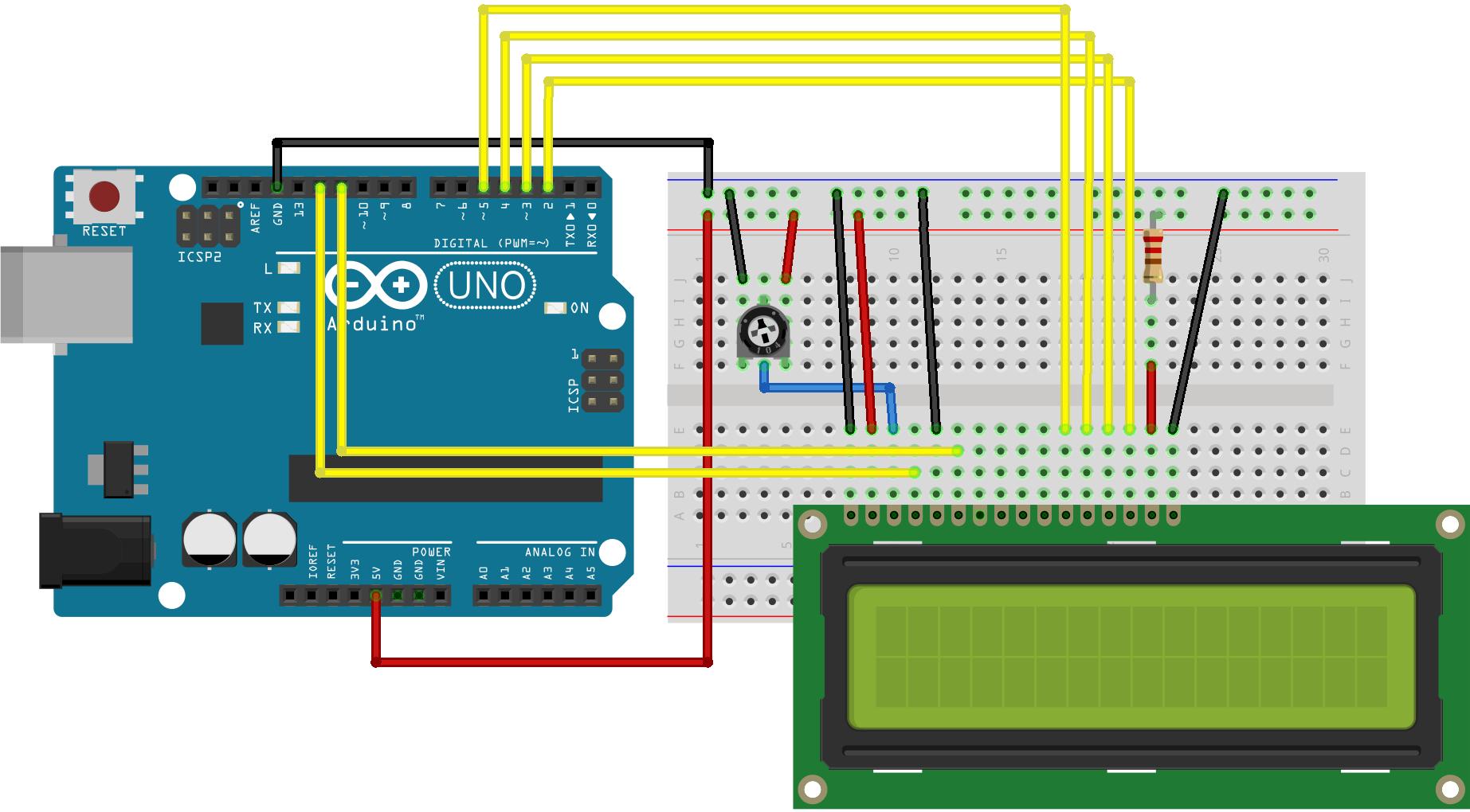 Arduino - Helloworld - Arduino Wiring Diagram